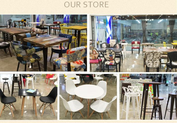 Comfortable PU Leather Metal Dining Chair For Coffee Bar / Restaurant
