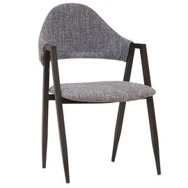 China Comfortable PU Leather Metal Dining Chair For Coffee Bar / Restaurant supplier