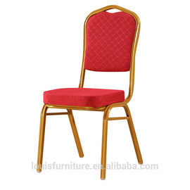 Metal Banquet Restaurant Chairs With Anti Skid Wear Resistant Food Pads