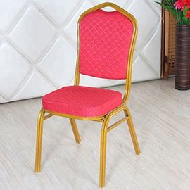Stackable Velvet Upholstered Dining Chairs Space Saving With Stable Structure