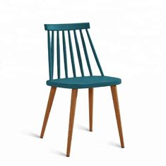 China Small Non Slip Plastic Dining Chairs With Wood Print Transfer Iron Legs supplier