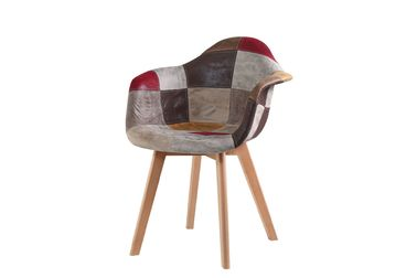China Practical Patchwork Armchair For Bedroom / Office / Kitchen / Living Room supplier