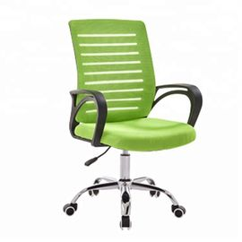 China High Back Fabric Office Chair With Wear Resistant Universal Wheels factory