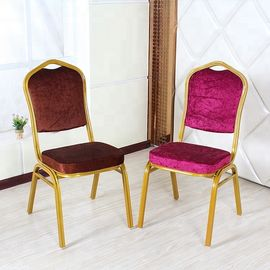 China High Back Velvet Dining Chairs , Anti Slip Velvet Modern Dining Chairs factory