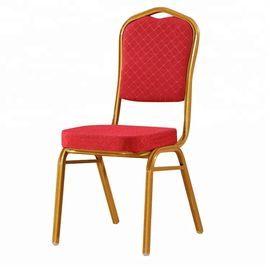 China Modern Red Velvet Dining Chairs Stackable For Canteen / Hotel / Restaurant factory