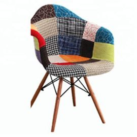 China Multi Coloured Patchwork Armchair For Home / Restaurant / Coffee Bar factory
