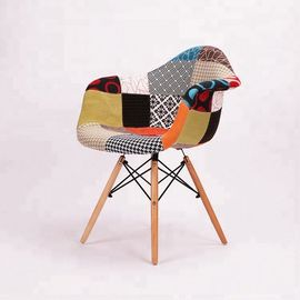 China Multi Coloured Patchwork Dining Chairs , Practical Patchwork Occasional Chair factory