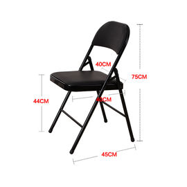 China Foldable PU Dining Chairs , Stable Leather And Metal Dining Chairs factory